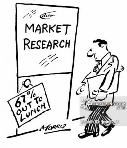 Market research dept: '67% out to lunch.'